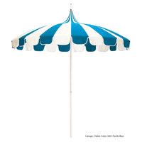 California Umbrella SMPT 852 SUNBRELLA 1 Pagoda 8 1/2' Round Push Lift Umbrella with 1 1/2 inch Aluminum Pole - Sunbrella 1A Canopy