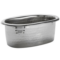 American Metalcraft HMBV 11 oz. Hammered Stainless Steel Oval Pan