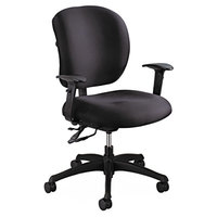 Safco 3391BL Alday Black Intensive Use Padded Polyester Office Chair