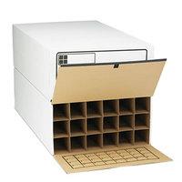 Safco 3094 Tube-Stor 18-Compartment Roll File Storage Box - 2/Case
