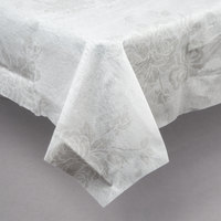 Hoffmaster 236420 82 Inch X 82 Inch Linen Like Silver Prestige Table Cover    24 ...