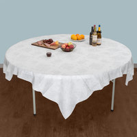 ... Hoffmaster 236420 82 Inch X 82 Inch Linen Like Silver Prestige Table  Cover   24