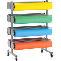 Bulman R398-D-48 48 inch Horizontal Tower 8 Roll Deluxe Paper Rack - Assembled