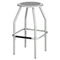 Safco 6666SL Diesel Series Silver Industrial Stool with Padded Seat