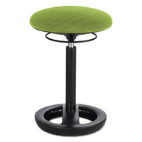 Safco 3000GN Twixt 22 1/2 inch Green Desk Height Ergonomic Stool with Fabric Seat