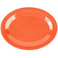 Carlisle 3308652 Sierrus 9 1/2 inch x 7 1/4 inch Sunset Orange Oval Melamine Platter - 24/Case