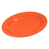 Carlisle 3308652 Sierrus Sunset Orange Oval Platter 9 1/2 inch x 7 1/4 inch 24 / Case