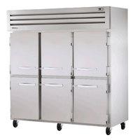 True STA3R-6HS Specification Series Three Section Solid Half Door Refrigerator - 85 Cu. Ft.