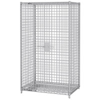 Metro SEC55S-HD Super Erecta Heavy-Duty Mobile Stainless Steel Security Unit - 28 1/16 inch x 50 1/2 inch x 62 inch