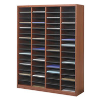 Safco 9331CY E-Z Stor Cherry 60-Section Wood / Fiberboard File Organizer - 40 inch x 11 3/4 inch x 52 1/4 inch