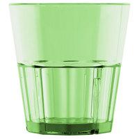 Diamond 8 oz. Green Polycarbonate Rocks Glass Tumbler - 12/Pack