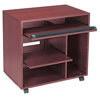 Safco 1901MH Ready-to-Use Mahogany Laminate Computer Workstation - 31 3/4 inch x 19 3/4 inch x 31 1/2 inch
