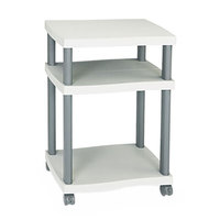 Safco 1860GR Charcoal Gray 3-Shelf Wave Design Printer Stand - 20 inch x 17 1/2 inch x 29 1/4 inch