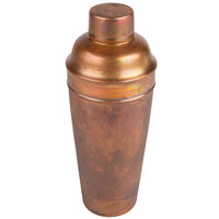 American Metalcraft ACS 24 oz. Satin Antique Copper 3-Piece Cobbler Cocktail Shaker