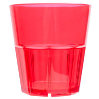 Diamond 8 oz. Red Polycarbonate Rocks Glass Tumbler - 12/Pack