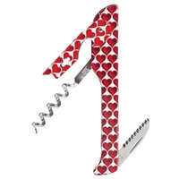 Franmara 2026 Hugger Designer Collection Waiter's Corkscrew with Red Hearts Decal