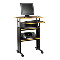 Safco 1929CY Cherry / Black 29 inch x 22 inch Adjustable Height Stand-Up Workstation