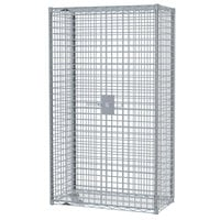 Metro SEC63S-SD Super Erecta Mobile Stainless Steel Security Unit - 33 1/2 inch x 40 3/4 inch x 62 inch
