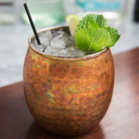 American Metalcraft ACTH 14 oz. Hammered Antique Copper Moscow Mule Tumbler