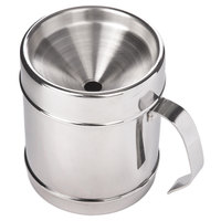 Franmara 9277 Customizable Polished Stainless Steel Continental-Style Wine Tasting Personal Spittoon with Lid