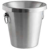 Franmara 9292SET Customizable 4.5 Qt. Brushed Stainless Steel Wine Tasting Spittoon