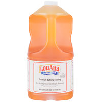 LouAna 1 Gallon Butter Flavored Topping - 4/Case