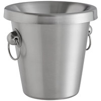 Franmara 9281SET Customizable 1.5 Qt. Brushed Stainless Steel Wine Tasting Spittoon
