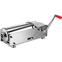 Manual 15 lb. Horizontal 2-Speed Stainless Steel Sausage Stuffer