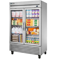 True T-49G-HC~FGD01 55 inch Glass Door Reach-In Refrigerator with LED Lighting