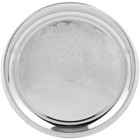 Vollrath 82101 Elegant Reflections 15 1/4 inch Stainless Steel Round Serving Tray