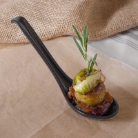 GET 6020-BK 0.8 oz. Black Matte Nara Melamine Soup Spoon   - 60/Case