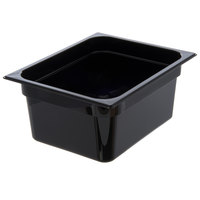 Carlisle 10222B03 StorPlus 1/2 Size Black Food Pan - 6 inch Deep