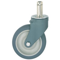 Metro 5PCXM MetroMax 5 inch Polyurethane Swivel Stem Caster with Bumper and Antimicrobial Protection