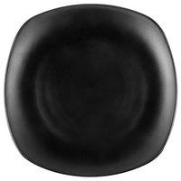 GET P-875-BK Nara 9 inch Black Matte Square Melamine Plate - 12/Case