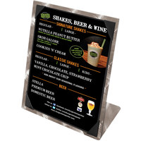 Menu Solutions MTPIX-811 Alumitique Aluminum Menu Tent with Picture Corners - Swirl Finish - 8 1/2 inch x 11 inch