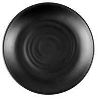 GET BF-7-BK Nara 7 1/4 inch Black Matte Round Melamine Plate - 12/Case