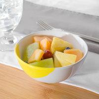 GET B-14-W/Y Bold 14 oz. White / Yellow Melamine Bowl - 48/Case