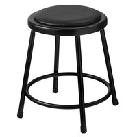 National Public Seating 6418-10 18 inch Black Round Padded Lab Stool
