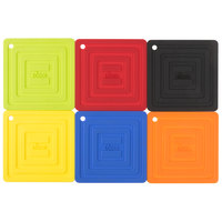 Lodge Assorted Color 6 inch x 6 inch Silicone Pot Holder - 6/Pack