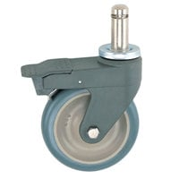 Metro 5PCBXM MetroMax 5 inch Polyurethane Caster with Brake, Bumper, and Antimicrobial Protection
