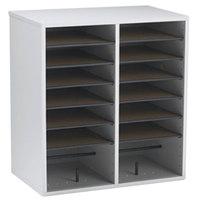 Safco 9422GR 19 1/2 inch x 11 3/4 inch x 21 inch Gray 16 Compartment File Organizer
