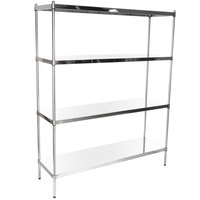 Regency 18 inch x 60 inch NSF Stainless Steel Solid Shelf Kit with 74 inch Posts