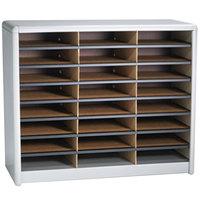 Safco 7111GR 32 1/4 inch x 13 1/2 inch x 25 3/4 inch Gray 24 Compartment File Organizer