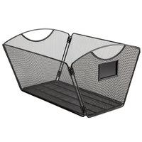 Safco 2163BL Onyx 15 1/4 inch x 13 3/4 inch x 9 1/2 inch Black Mesh Steel Desktop Storage Box
