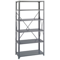 Safco 6269 Dark Gray 5 Shelf Commercial Steel Shelving Unit - 36 inch x 18 inch x 75 inch