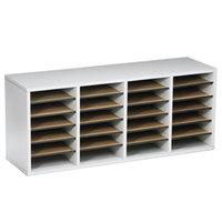 Safco 9423GR 39 1/4 inch x 11 3/4 inch x 16 1/4 inch Gray 24 Compartment File Organizer