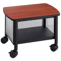 Safco 1862BL Impromptu Black / Cherry Under Table Printer Stand - 20 1/2 inch x 16 1/2 inch x 14 1/2 inch