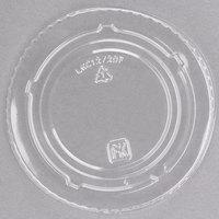 Fabri-Kal Kal-Clear/Nexclear LKC12/20F 5 oz. Clear PET Flat Lid - 1000/Case