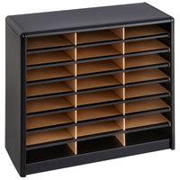 Safco 7111BL 32 1/4 inch x 13 1/2 inch x 25 3/4 inch Black 24 Compartment File Organizer