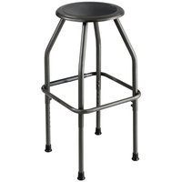 Safco 6666 Diesel Series Pewter Steel Frame Industrial Stool with Padded Seat
